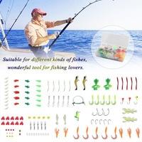 Fishing Lure Kits Hard Artificial Metal Baits High Carbon Steel Plastic Fish Hook Soft Fishing Baits Set Fish Accessories