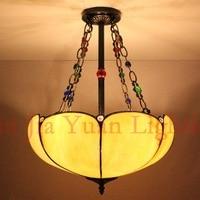 European tifany style Tiffany Lamp Art Glass penant light for bedroom dining room bar hanging lighting