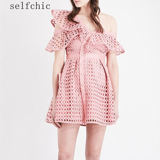 One Shoulder Pink Dresses