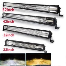 CO светильник 270 Вт 405 Вт 648 Вт 783 Вт 12D, светодиодный светильник, 12 В, стробоскоп, белый, янтарный, Светодиодная панель для автомобиля, комбинированный светодиодный рабочий светильник для трактора, нива, вездехода