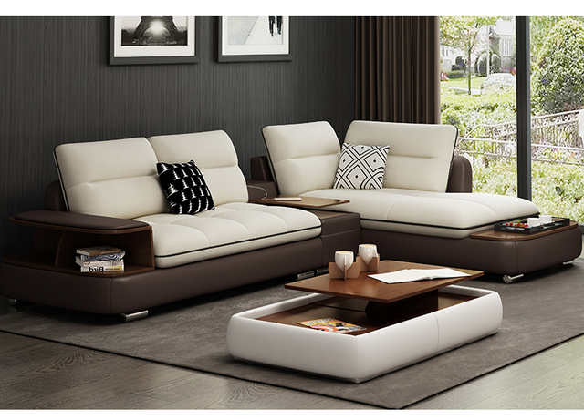 US $1139.05 5% OFF|Living Room Sofa set corner sofa real genuine cow  leather sectional sofas minimalist modern muebles de sala moveis para  casa-in ...