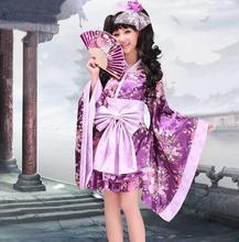 Lolita disfraces de Halloween para las mujeres anime kimono mucama cosplay lolita vestido conjunto completo