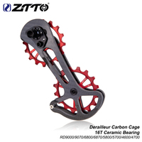 ZTTO road bike carbon fiber derailleur Cage with 16T ceramic jockey wheel 16T oversized bottom pulley