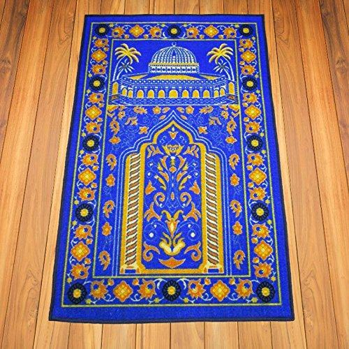 Islamic Prayer Rug Thick Muslim Islam Traditional Design Nylon Carpet With Non Slip Latex Bottom Man
