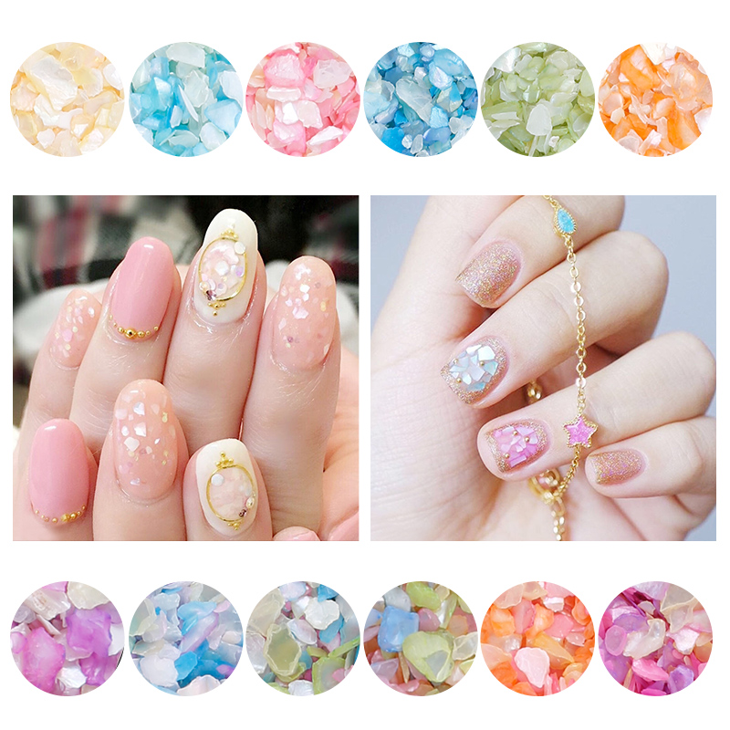 Modelones Newest Sequins Nail Glitter Powder Irregular Flake Nail Decorations Hot 12 Candy Colors Sparkly Nail Sequins Tips 24 bottles 3d colorful shiny nail glitter powder sequins manicure festival nail art decorations for women