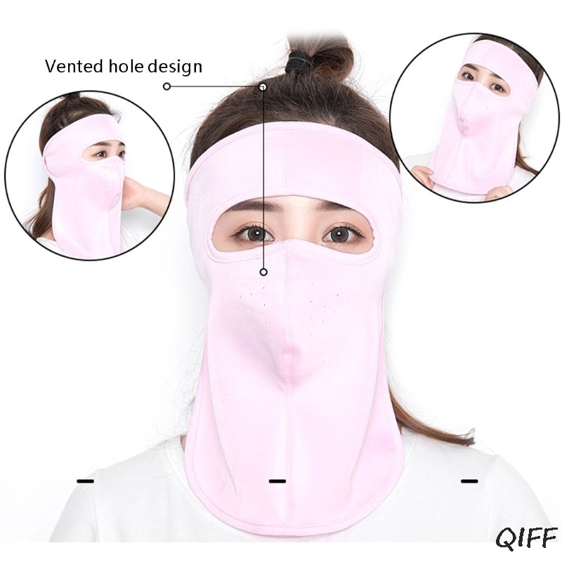 1pc Unisex Quick-drying Face UV Protection Mask Cover Sunscreen Cycling Cool Ice Silk Breathable Masks Neck Protection