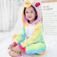 Children Animal Onesie Unicorn Pajamas For Kids Halloween Cosplay Costume For Girls Boys Pijama Flannel Stitch