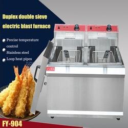 1PC  FY-904 Commercial Double-cylinder Open Fryer Chicken Frying Equipment Commercial Deep Fryer
