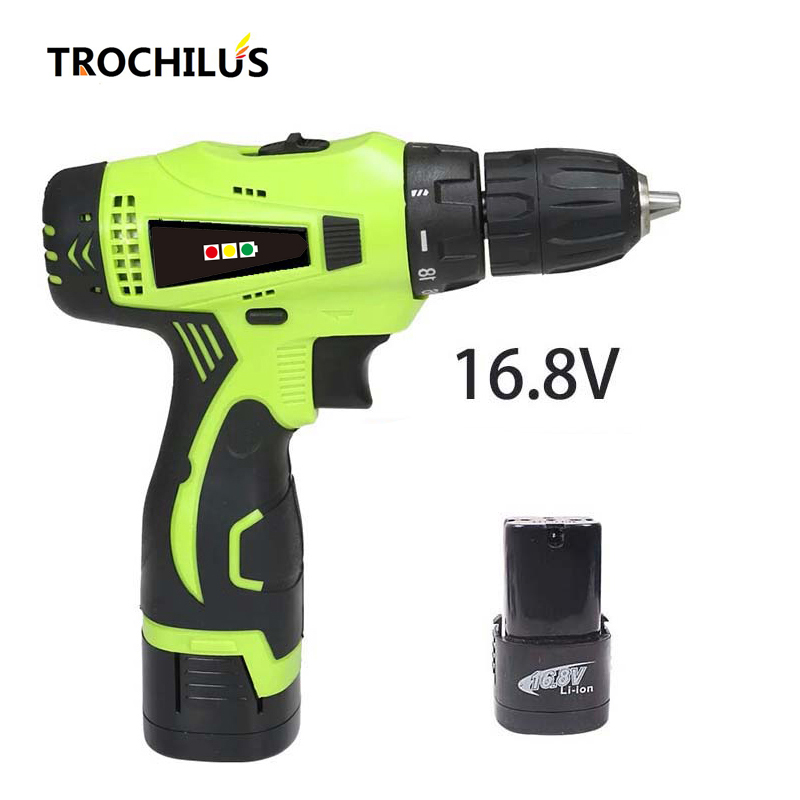 High-quality power tools 16.8V cordless screwdriver Multi-function mini electric screwdriver with lithium battery * 2 high quality screwdriver combination set unique telescopic function