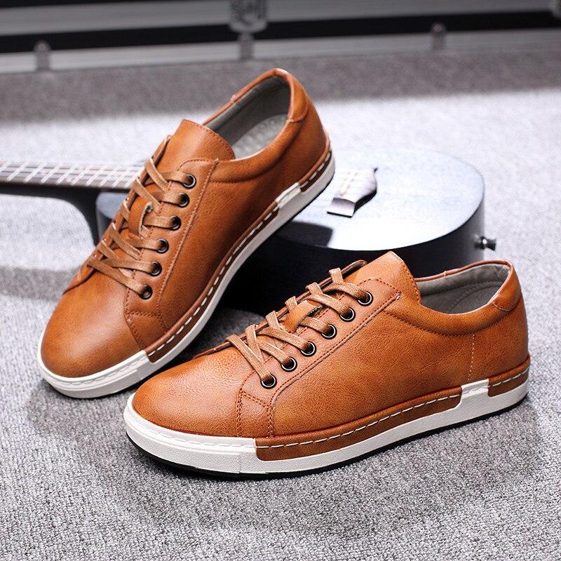 HTB14vmvaiHrK1Rjy0Flq6AsaFXa6 Gentlemans Luxury Leather Shoes Men Sneakers Men Trainers Lace-up Flat Driving Shoes Zapatillas Hombre Casual