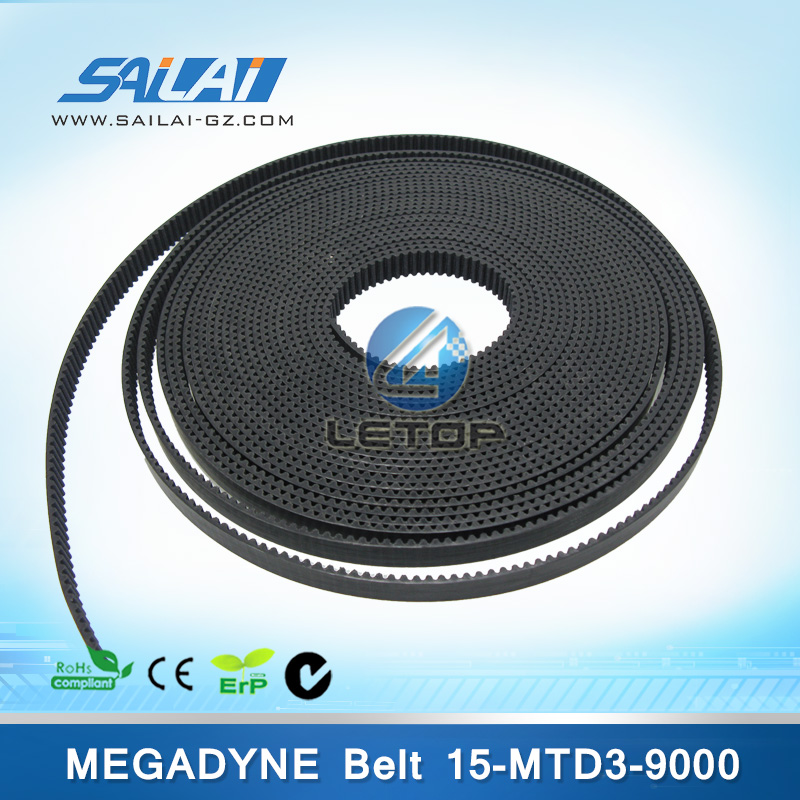 Cheap price! Megadyne 15-MTD3-9000 conveyor print belt for inkjet printer