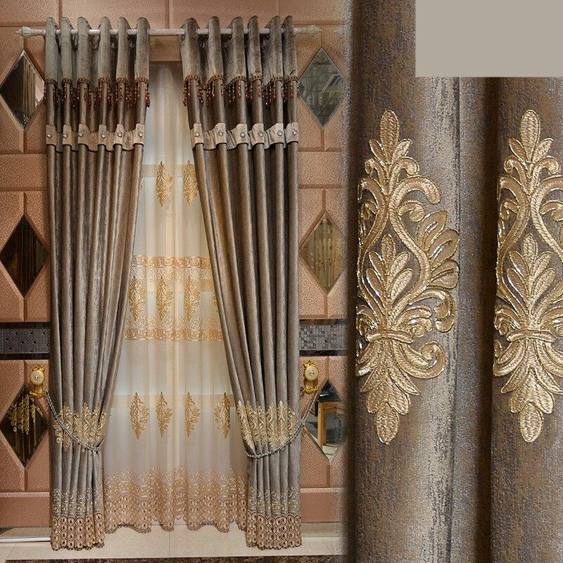 Custom curtains luxury European Italian velvet American ...