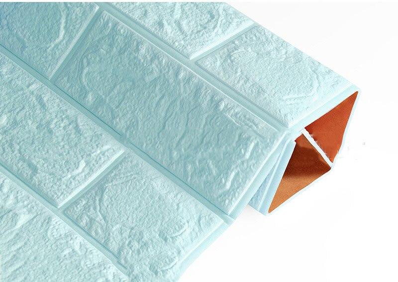 3D наклейки на кирпичную стену, водостойкие наклейки для гостиной, спальни, DIY, самоклеющиеся обои, искусство 60*30*0,8 см, настенные наклейки для дома - Цвет: Light blue