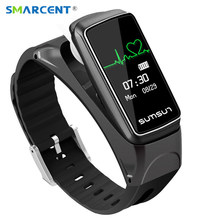 SMARCENT B7 Bluetooth Smart Band Talkband Heart Rate Monitor Sport Health Smartband Watch Bracelet with Music Player Wristband