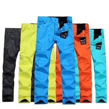 2016 new Genuine   snow ski pants  men Veneer snowboard pants double the breathable windproof ski pants for men