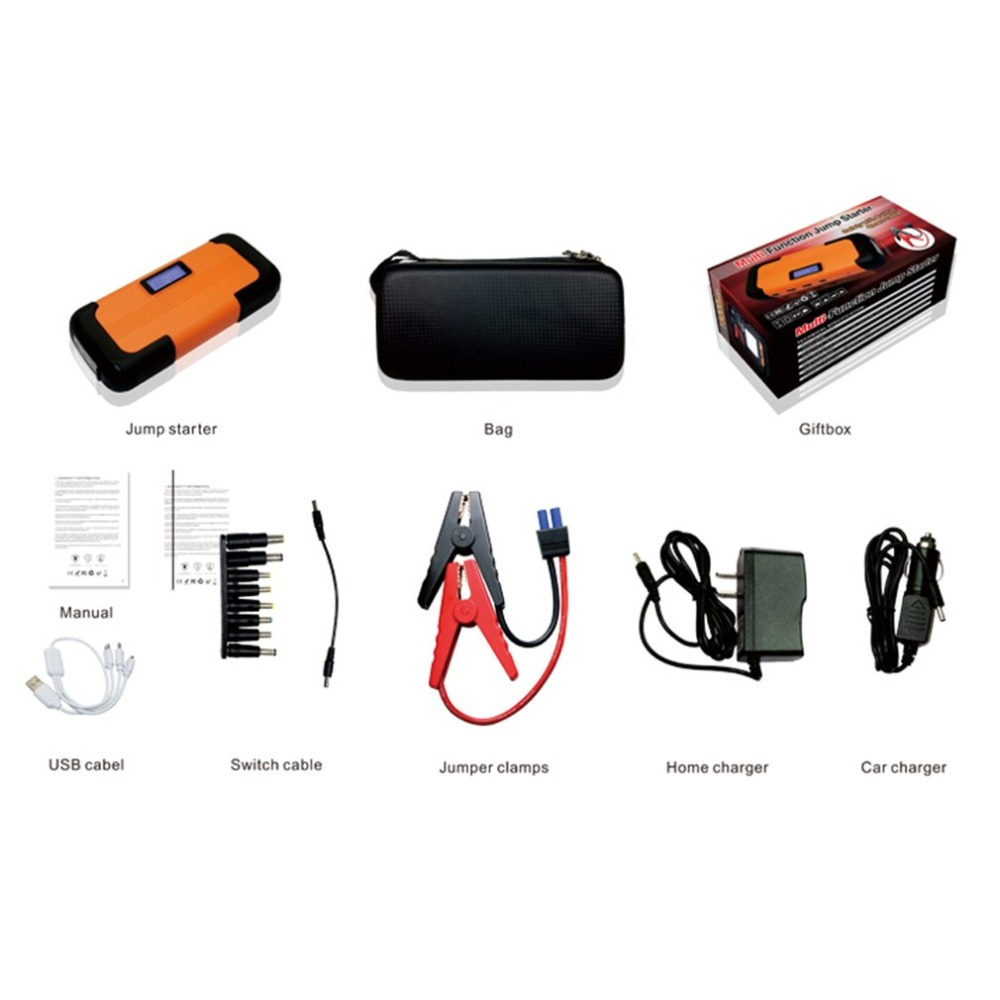 High Quality 12V 82800mAh LCD Display Car Jump Starter USB Output Fast Charging Battery Power Bank Multifunction Car Charger cgig q7 high quality 12000mah power bank w lcd display led torch for iphone samsung more