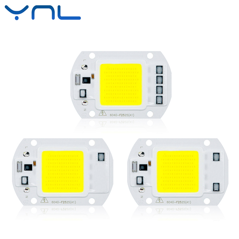 YNL Real Power LED COB Chip 20W 30W 50W LED Lamp Bulb 220V 240V Input IP65 Smart IC For DIY Outdoor LED Flood Light chips цена