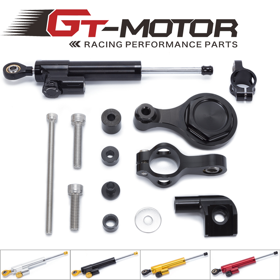 GT Motor - FREE SHIPPING For YAMAHA YZF R1 2002-2016 R6 2006-2016 Motorcycle Steering Stabilizer Damper Mounting Bracket Kit