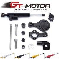 GT Motor FREE SHIPPING For YAMAHA YZF R1 2002 2016 R6 2006 2016 Motorcycle Steering Stabilizer Damper Mounting Bracket Kit