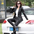Leather jacket women 2017 new fashion leather coat women short slim motorcycle leather clothing female outerwear black Z928