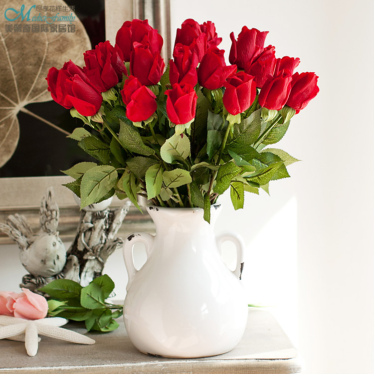 Simulation roses flower buds artificial flowers set suit living room simulation roses flower buds artificial flowers set suit living room decoration silk flowers festival fest in artificial dried flowers from home garden mightylinksfo Image collections