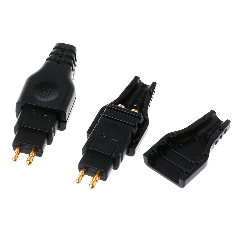1Pair HD650 HD600 HD565 HD580 Black Mini Plug Gold Plated Plug Connector TZZX