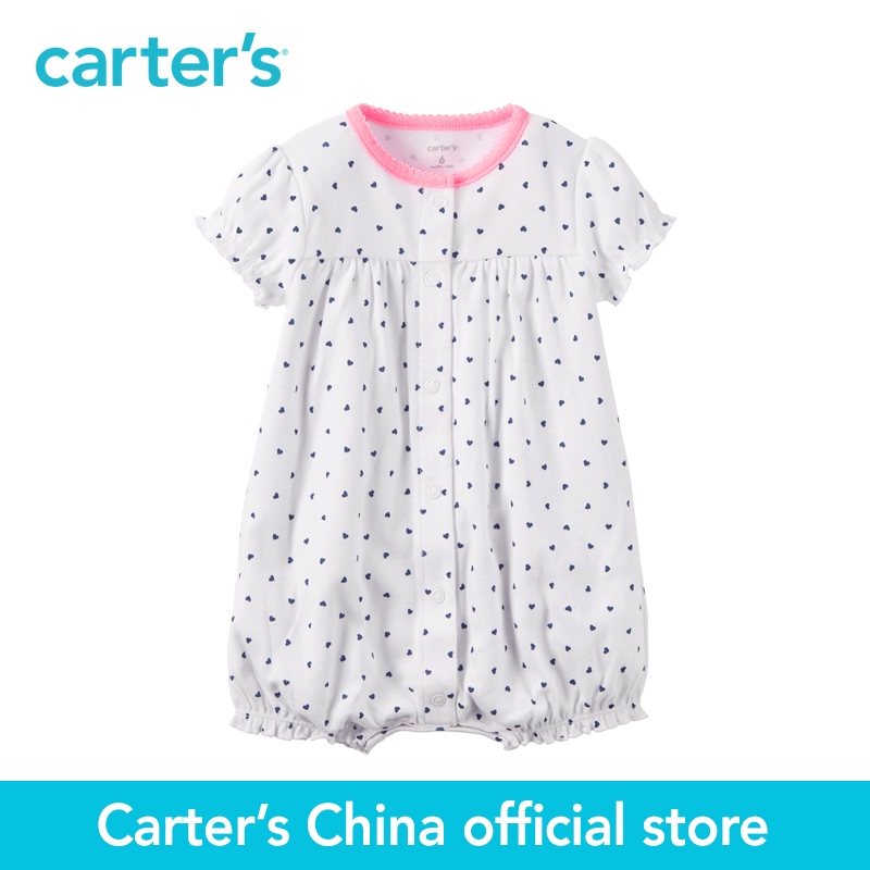 Carter's 1pcs baby children kids White Navy Dot Romper 118H260,sold by Carter's China official store велосипед forward terra 1 0 2016 18 navy white
