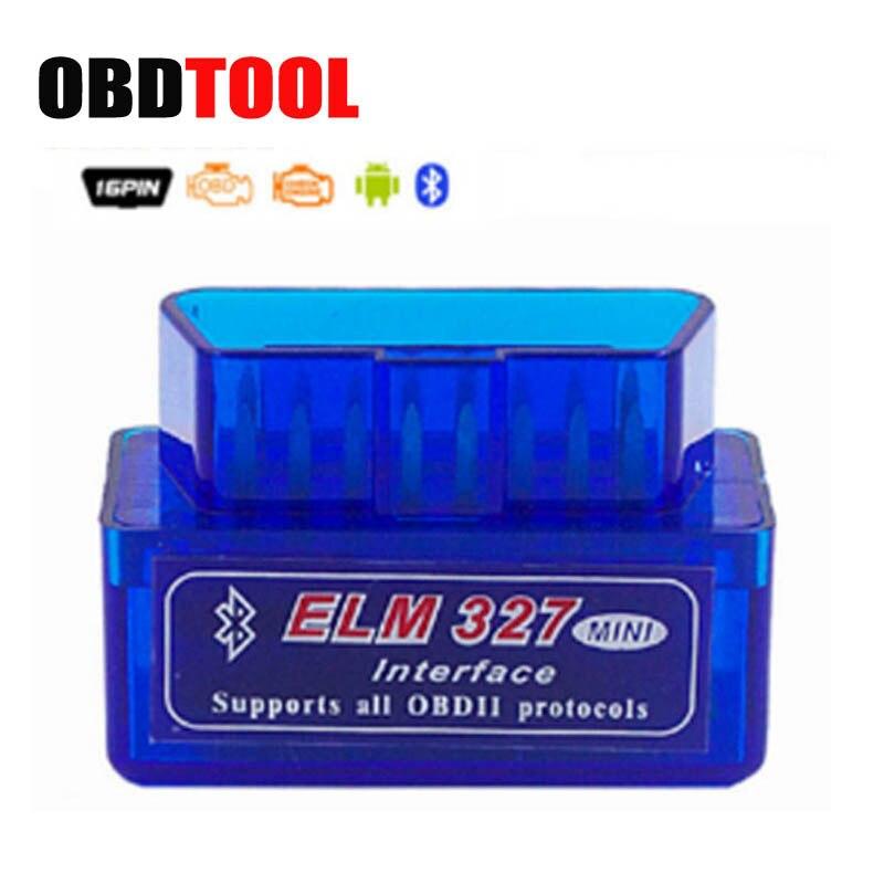 1 pc MINI ELM327 V1.5 Bluetooth OBD2 OBDII EOBD Voiture Erreur Code Lecteur Scanner Outil ELM 327 v 1.5 OBD 2 Scan JC10