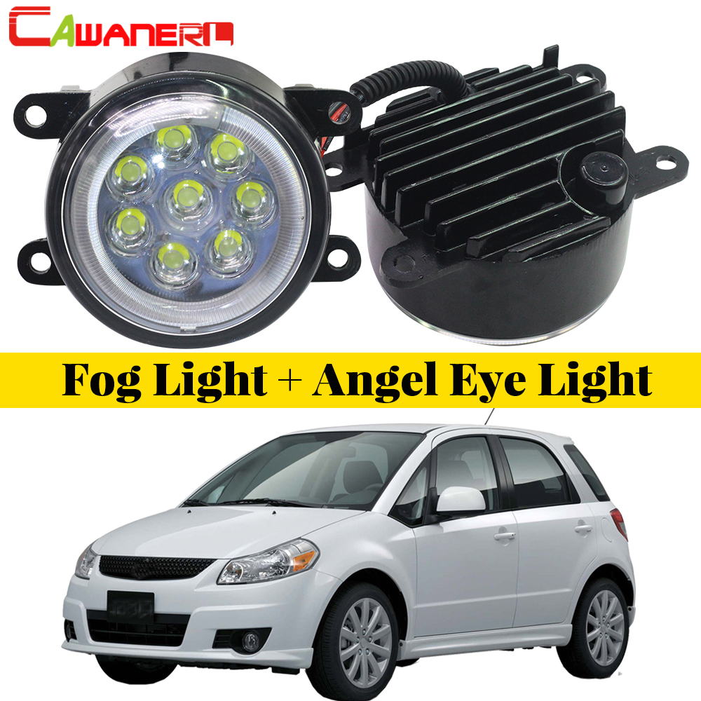Cawanerl For 2006-2014 Suzuki SX4 (EY, GY) Car Styling LED Fog Light Lamp Angel Eye Daytime Running Light DRL 12V 2 Pieces cawanerl for 2006 2014 suzuki sx4 ey gy car styling led fog light lamp angel eye daytime running light drl 12v 2 pieces