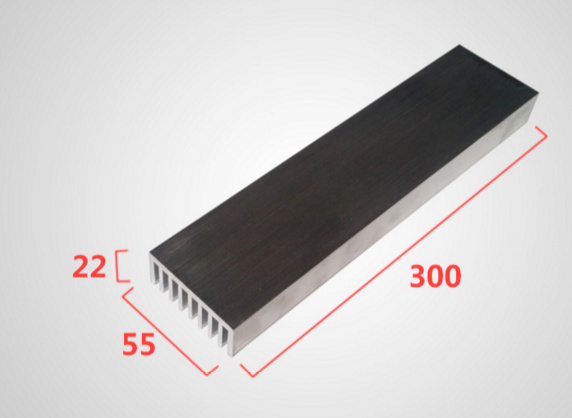 Supply Industrial Electronic Radiator Aluminum Heat Sink Cooling Article Customized 55*22*300mm Heatsink Cooler Radiator 5pcs lot pure copper broken groove memory mos radiator fin raspberry pi chip notebook radiator 14 14 4 0mm copper heatsink