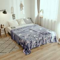Flower season bedspread blanket 200x230cm High Density Super Soft Flannel Blanket to on for the sofa/Bed/Car Portable Plaids