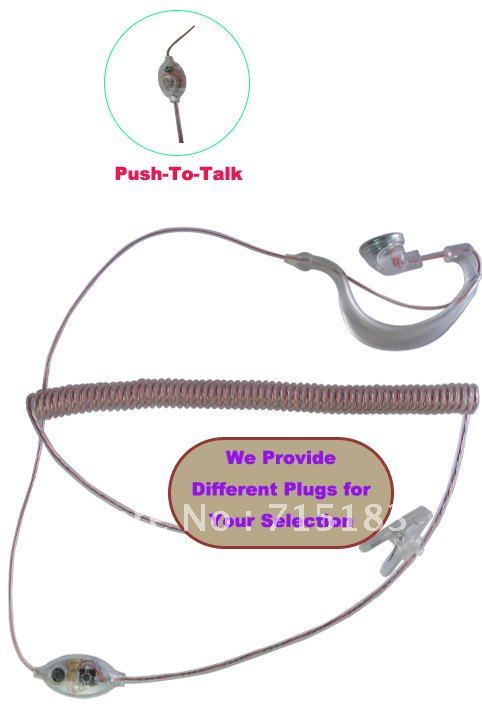 Freeship New 2013 Headphone For Radio Fashionable Walkie Talkie Earpiece/Ear Loop Earphone(Different Plugs For Your Selection)