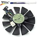 New Original Everflow 87MM T129215SU DC 12V 0.50AMP 4Pin Cooling Fan For ASUS GTX980Ti R9 390X 390 Graphics Card Cooler Fans