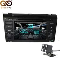 Sinairyu 2 Din Android 8.0 Octa Core Car DVD Player for Mazda 3 2004 2009 GPS Navigation Multimedia Radio Stereo Head Unit