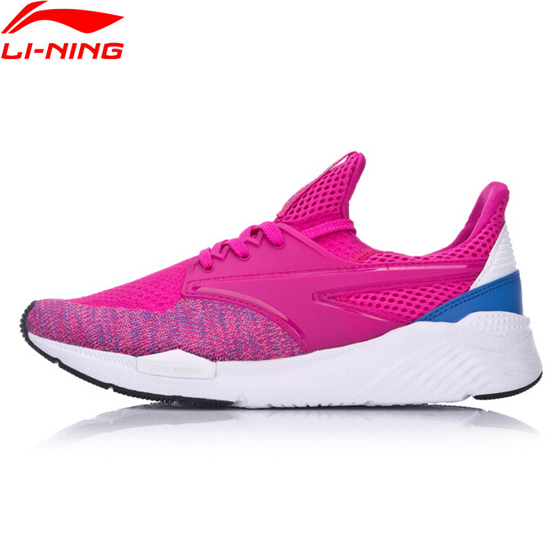 Li-Ning EXCEED Women Walking Shoes The Trend Heritage MONO YARN Cushion LiNing Sneakers Breathable Sports Shoes AGCM052 YXB056