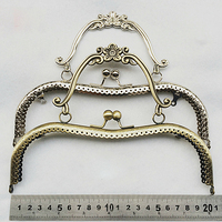 20 5cm Vintage Elegant Women Purse Frame Clutch Bag Clasp With Handle DIY Hardware Accessories Knurling