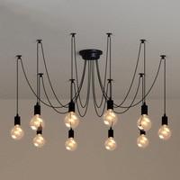 Modern Vintage DIY Pendant Light Retro Edison Bulb E27 Spider Lamp Industrial Loft Decoration Suspension Light E27 Lamp Holder