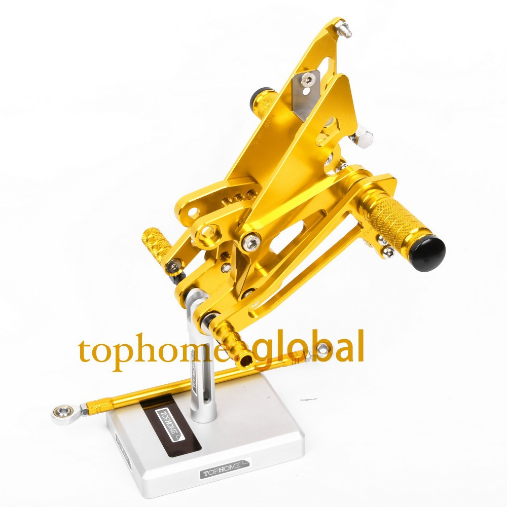 Motorcycle CNC Rearsets For HONDA NC30 RVF400 NC35 Foot Pegs Yellow Colour Foot Pegs Rear Set
