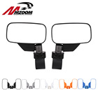 "Rear View mirror Break-Away Side Mirrors Shockproof UTV mirror Rhinos for Polaris RZR 800 900 1000 For Can Am 2""/1.75"""