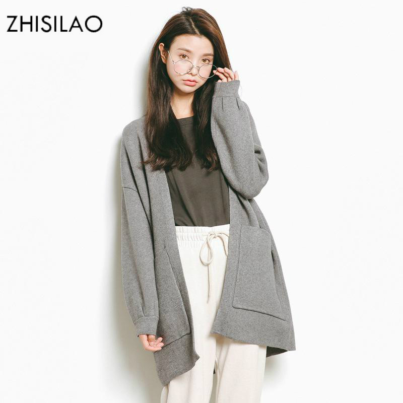 ZHISILAO 2018 Sweaters Woman Sweater Cardigan Woman Poncho Sweater Cashmere Pull Femme Hiver Sweater Cape Long Cardigan Oversize