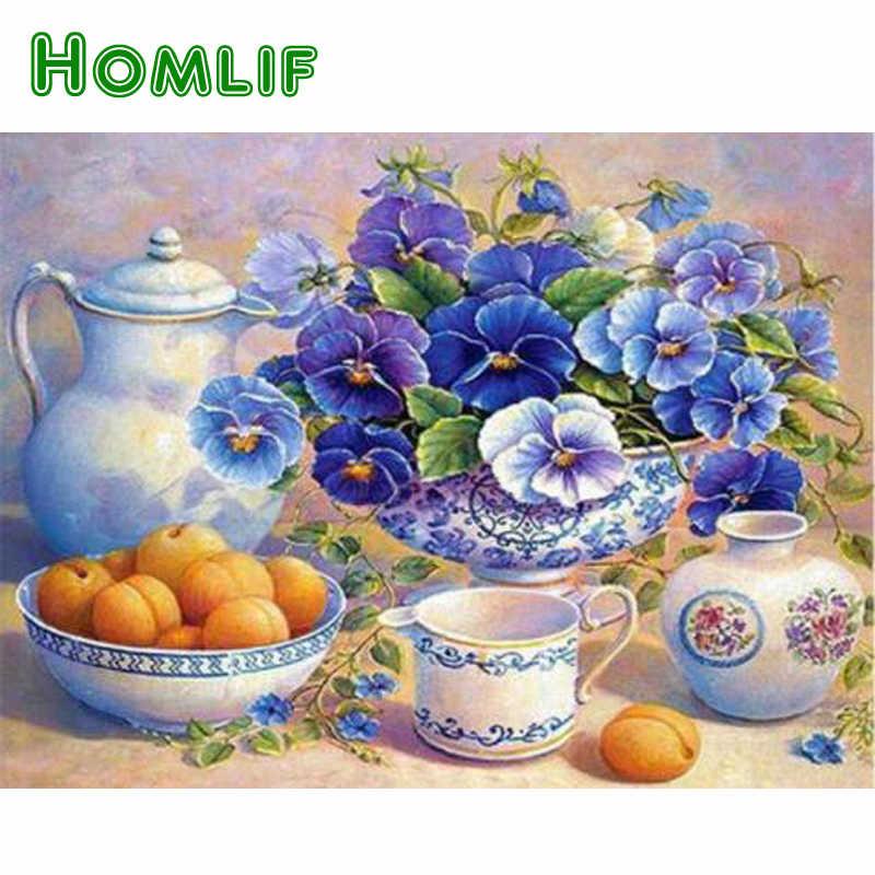 HOMLIF DIY 5D фрукты Алмазная картина крестиком для кухонного декора рукоделие