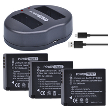 3Pcs DMW-BLG10 DMW BLG10 DMW-BLE9 BLE9 BLE9E Camera Battery+ Dual USB Charger for Panasonic Lumix DMC GF6 GX7 GF3 GF5 GX80