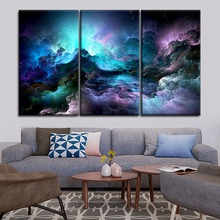Canvas Print Poster Living Room Decor Framework 3 Panel Unreal Clouds Abstract Oil Painting Home Wall Art Modular Picture