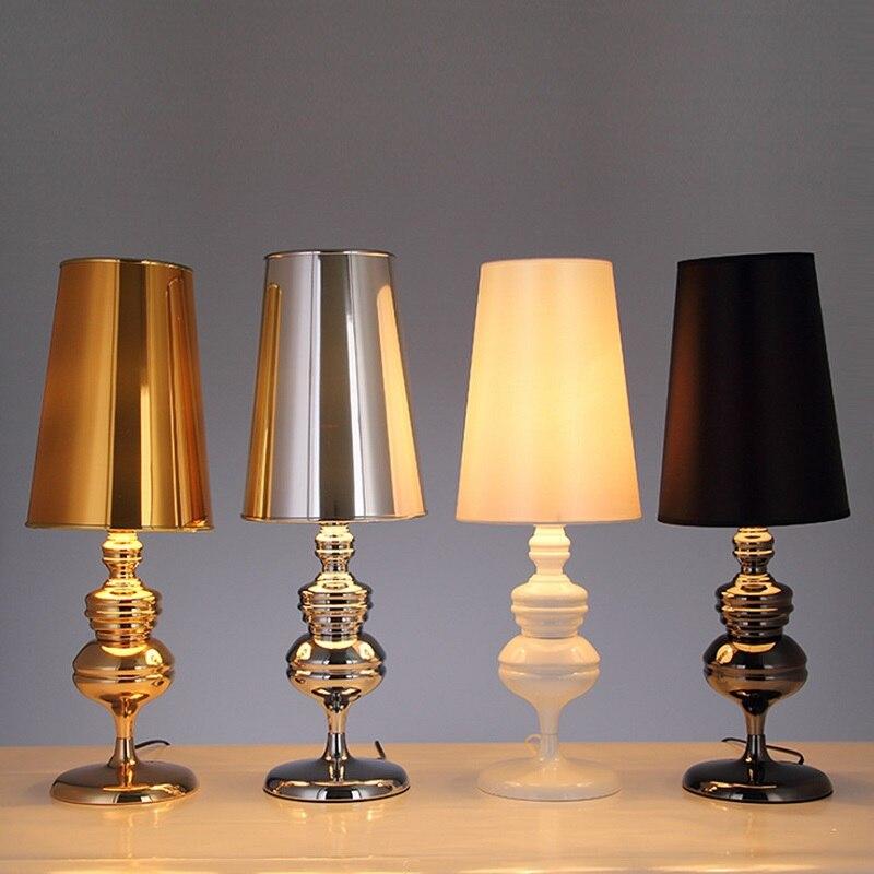 LukLoy אופנה שינה המיטה LED שולחן מנורת פשוט מודרני מחקר שולחן אור חדר סלון Creative אמנות משמר שולחן מנורה