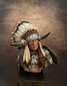 Image 2 - Unassambled  1/10 ancient Leader of the Plains man bust   Resin figure miniature model kits Unpainted