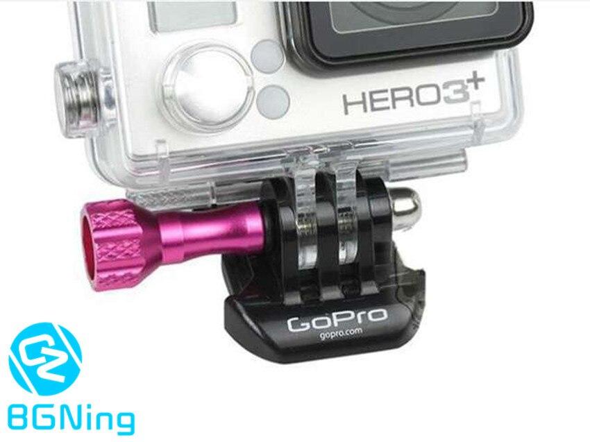 CNC Aluminum Mini Screw With Cap Thumb Knob For GoPro Hero 3+ 3 Plus Camera Action Cameras Accessory Screws Pink Purple Blue
