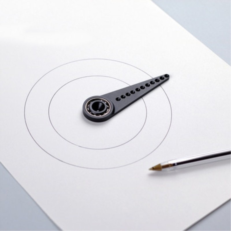 Metal Compass Multi-function Drawing Ruler Drawing Circle Without Leaving Holes Versatile Drawing Curved Magnetic Ruler Tool
