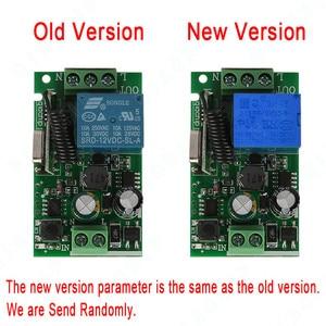 Image 2 - Qiachip 433 mhz interruptor de controle remoto sem fio ac 85 v 110 v 220 v 1ch relé 433 mhz módulo receptor aprendizagem luz controlador da lâmpada