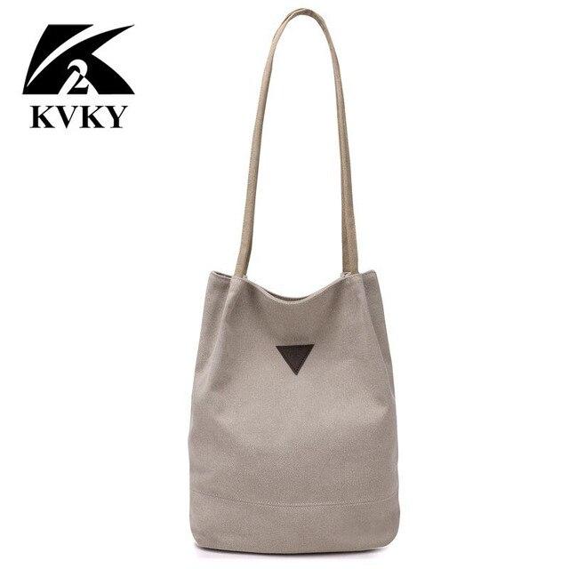 7751ff96e5c8 New Design Shoulder Bag Canvas Women Handbags Bucket Ladies Long Strap Bags  Casual Big Female Shopping Tote Bag For Ipad Bolsos