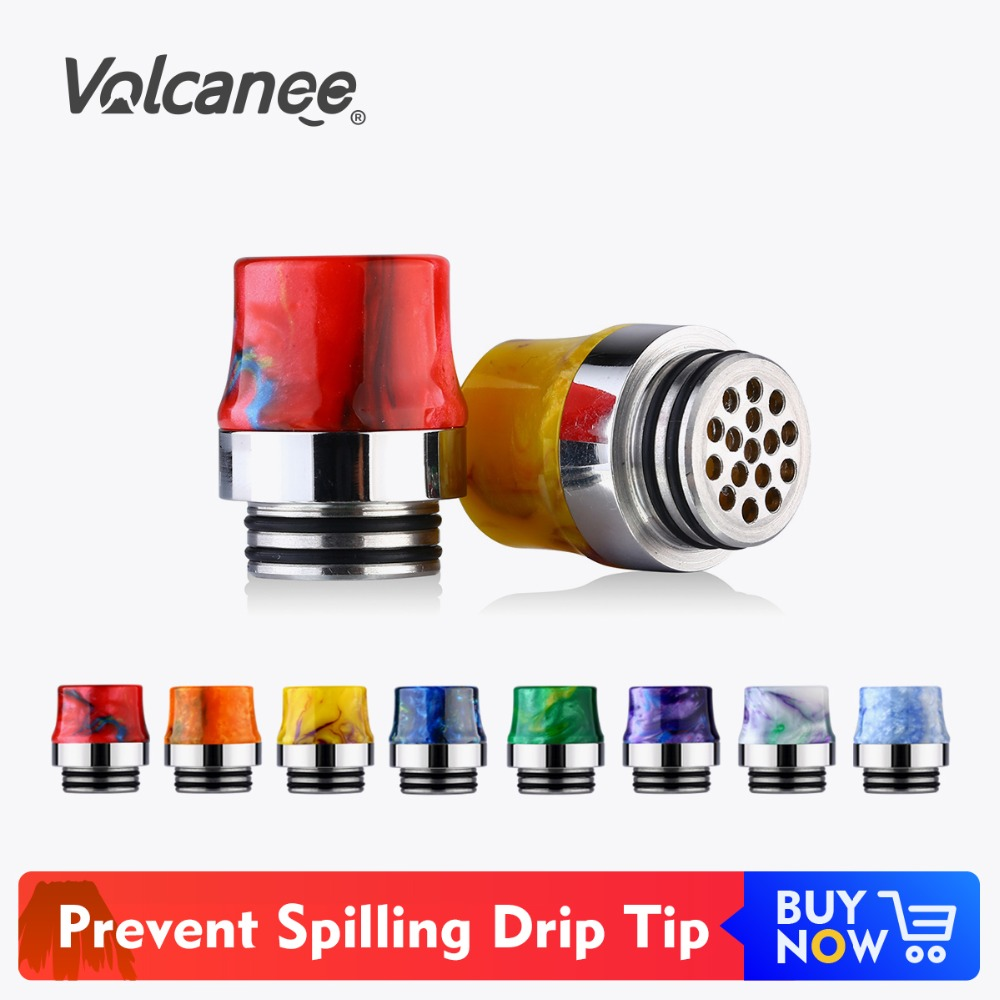 Volcanee Prevent Spilling Heating Protect Drip Tip 810 Epoxy Resin For V8 Kennedy 24 Mad Dog RDA Atomizer Wide Bore Mouthpiece